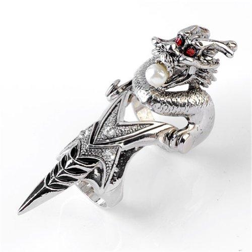 Jovivi Silvery Dragon Rhinestone Movable