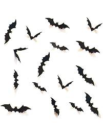 HOZZQ DIY Halloween Party Supplies PVC 3D Decorative Scary Bats Wall Decal Wall Sticker, Halloween Eve Decor Home Window...