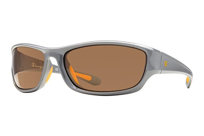 Amazon.com: Champion 6023 Gafas de sol 64 C03 brillante gris ...