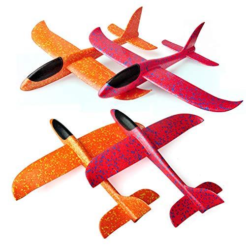 (JUSTnowok Foam Throwing Glider Airplane Inertia Aircraft Toy Hand Launch Airplane Model)