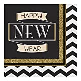 Creative Converting 317018 16 Count Paper Lunch Napkins, Midnight Celebration