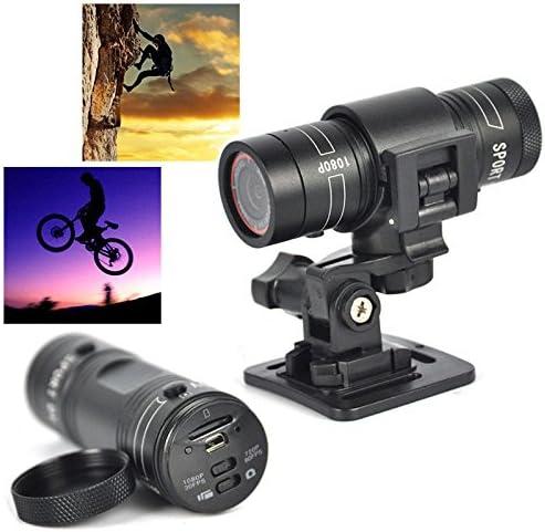 lampe de poche IPX-4 /étanche Cam/éra vid/éo daction DVR pour le cyclisme en Cam/éra de sport de bicyclette grand angle pour v/élo//motocyclette//casque mini cam/éra DV de sport DV 1080p 30FPS HD 120 /° A