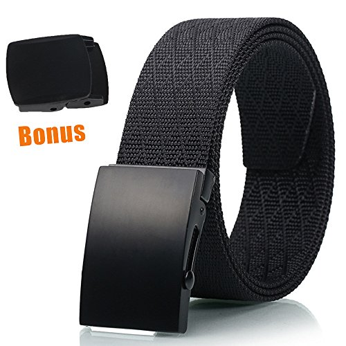 Hoanan Tactical Buckle Belt, Nylon Braided Casual Heavy Duty Belt for Men and Women