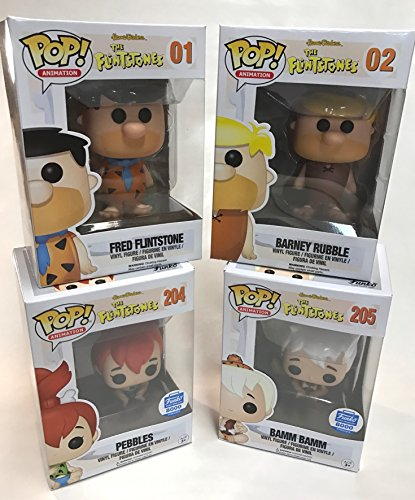 Funko Fred Flintstone - Barney Rubble - Pebbles & Bamm Bamm 3.75