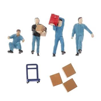 IPOTCH 1:64 Figura de Personas Trabajadores Porterp en Miniatura ...