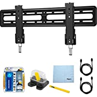 Sanus 51-70 Premium Series Fixed Flat Panel Mount/10-95 (VLL5) with TV/LCD Screen Cleaning Kit, Magnetic Stud Finder, Carpenter Pencil, Microfiber Cleaning Cloth & 2x HDMI to HDMI Cable 6