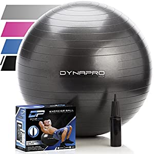 Exercise Ball - 2,000 lbs Stability Ball - Professional Grade – Anti Burst Exercise Equipment for Home, Balance, Gym, Core...