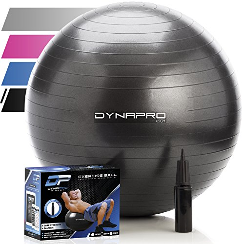 DYNAPRO Exercise Ball - 2,000 lbs Stability Ball - Professional Grade –...