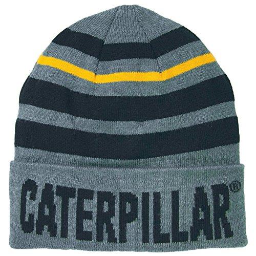 Caterpillar - Gorro Beanie Punto Modelo Tumbler Hombre Caballero (Talla Única/Gris Oscuro Jaspeado)