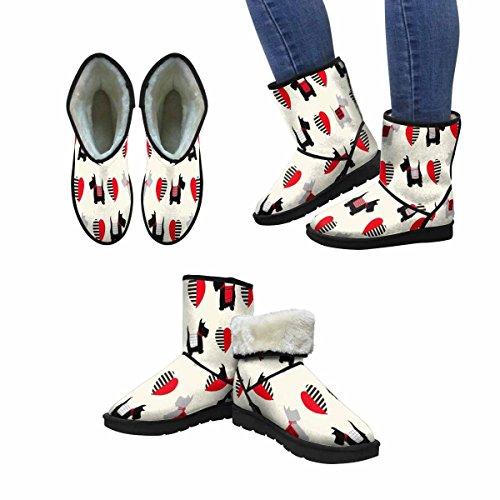 InterestPrint Womens Snow Boots Scottie Dog Pattern Unique Designed Comfort Winter Boots Multi 1 76WxLO5