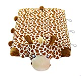 KreativeKraft Pillow Pet Giraffe 100% Natural Latex Pillow - Foldable Pillow Toy for Kids Soft, Comfy & Fun -Animal Shaped Sleeping Pillow Doll Toy Gifts for Nursery Students, Children, Baby