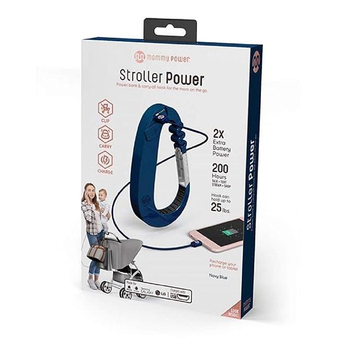 Black Mommy Power Stroller Power Stroller Hook /& Power Bank Carry-All Hook for The mom on The Go