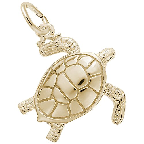 Rembrandt Charms, Sea Turtle, 22k Yellow Gold Plated Silver ()