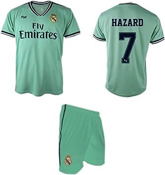 Real Madrid Hazard 3ª Equipación Verde niño Camiseta pantalón Tallas 6 a 14: Amazon.es: Deportes y aire libre
