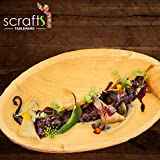 7'' x 3'' Round Disposable Palm Leaf Boat Bowls by Scrafts - Compostable,Biodegradable Heavy Duty Dinner Party Plate/Bowl - Comparable to Bamboo Wood - Elegant Plant Based Dishware: (50 Pack)