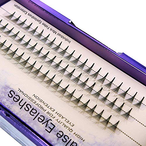 Scala 60PCS 10Root Thickness 0.07mm C Curl Natural Soft False Eyelash Extension 3D lashes Black lash Deluxe Lashes Fake Eyelashes (11mm) - Black False Eyelashes Eyelash