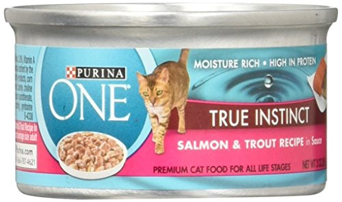 Purina One TRUE INSTINCT Salmon & Trout Recipe (12-CANS) (NET WT 3 OZ EACH CAN)