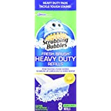 S C Johnson Wax Scrubbing Bubbles Heavy Duty Refills Fresh Brush Toilet Cleaning System 8 Count Refill (Package Image May Vary)
