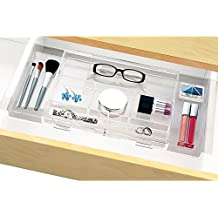 Expandable Makeup & Vanity Hanging Drawer Organizer Tray - expands to fit multiple widths
