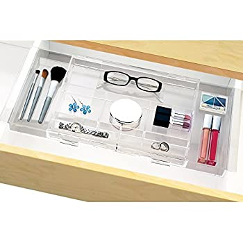 Expandable Hanging Makeup & Vanity Organizer - expands to fit multiple widths