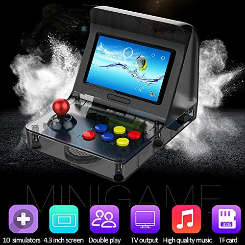 DICPOLIA Toys Handheld Game Console, Built in 3000 Classic Portable Game Console Pap-KIII, Support GBA/GBC / GB/Sega / NES/SFC / NEOGEO, Birthday Presents for Children – Black (AS -