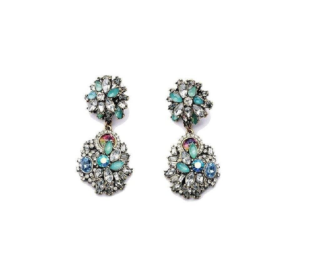 Vintage Multi-bead Retro Fashion Earrings Globalmate GLO626