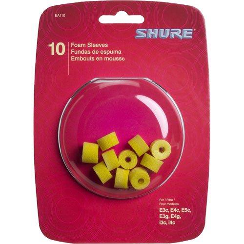 Shure EAYLF1-10 Universal Fit Yellow Foam Sleeves, 5 Pair