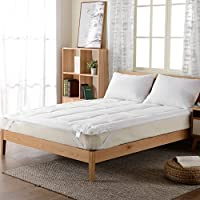 Cheer Collection Hypoallergenic Mattress Topper   Ultra Soft Down Alternative Pillowtop Pad to Add Plush Comfort to Full Size Mattresses