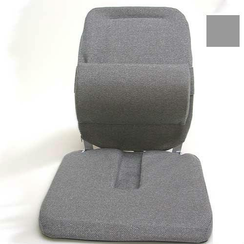 GRY - Deluxe Model Coccyx Cutour Car Seat Cushion - Grey - Width - 19 in. (Sacro Ease Model)