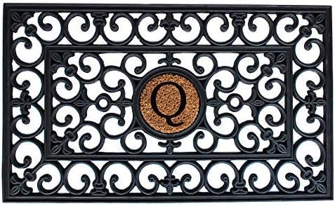 Calloway Mills 150011830Q Rubber Monogram Doormat, 18 x 30 Letter Q