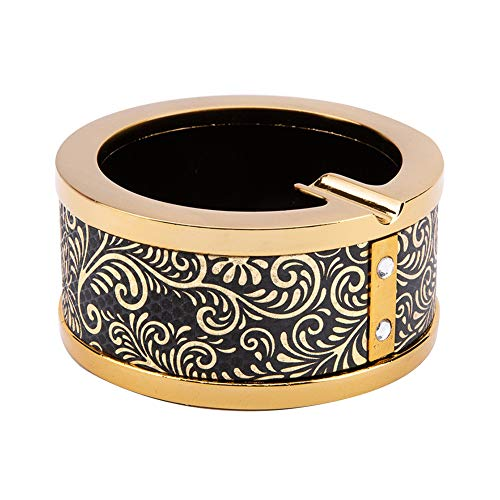Ashtray-Creative Retro European zinc Alloy Ashtray, Fashion Office Home Living Room Clubhouse bar Metal Ornaments The Best Gift for Smokers