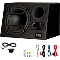 Acoustic Audio ACA12DWG Deluxe Powered 12 Car Ported Subwoofer 900 Watts with Wiring Kit and Remote Level Control