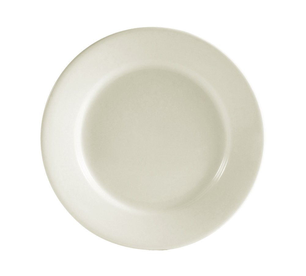 CAC China RCN-5 Clinton Rolled Edge 5-1/2-Inch Super White Porcelain Plate, Box of 36