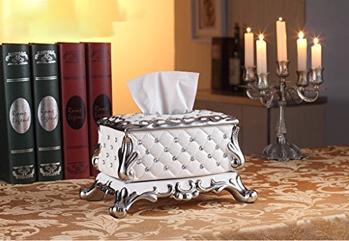 Hyun times European-style tissue box pumping tray Decoration luxury living room coffee table household ceramic grade paper box pumping Household American by Hyun times tissue box