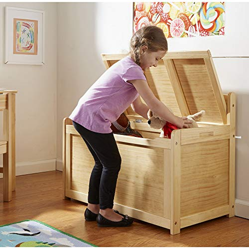 Melissa & Doug Wooden Toy Chest - Honey, Blonde