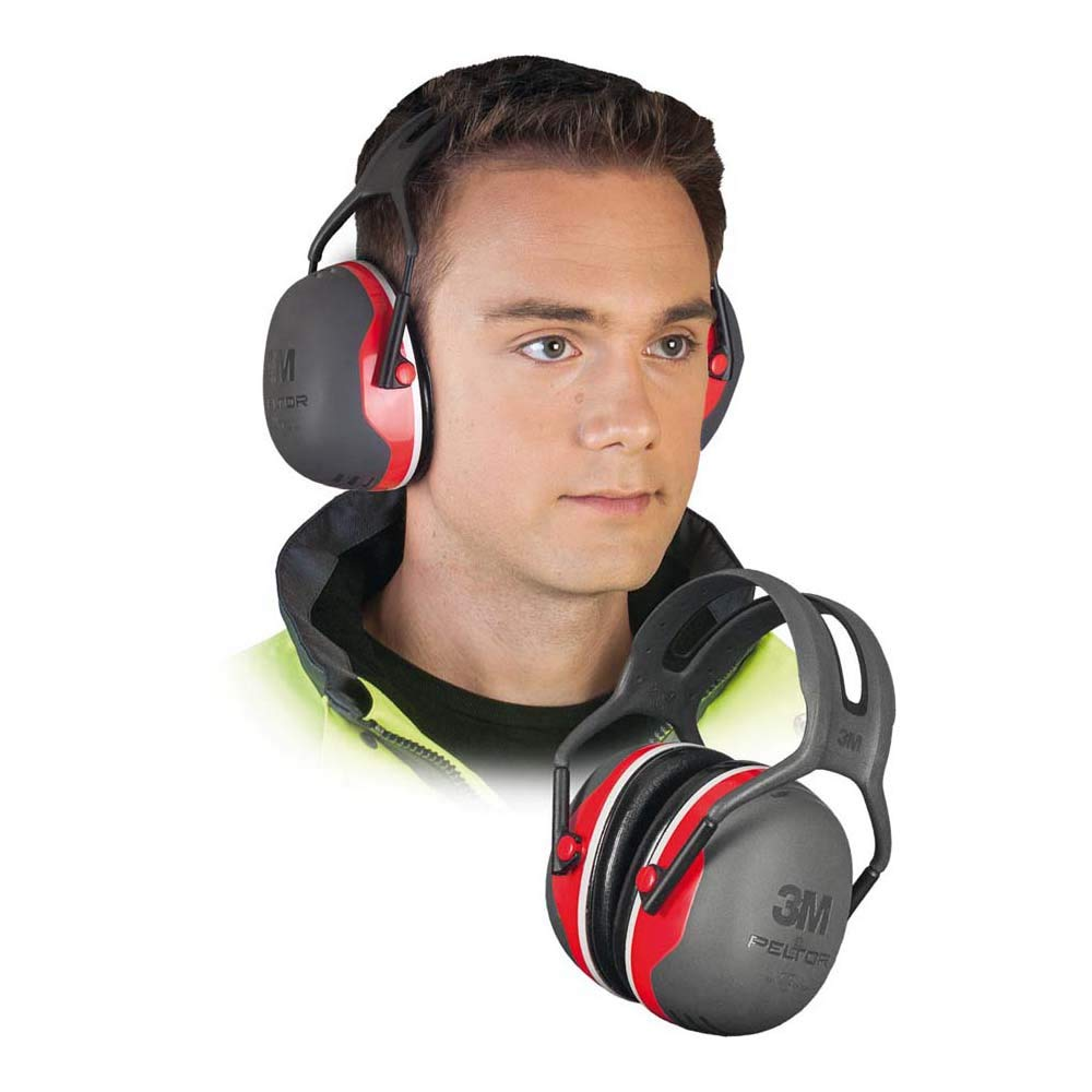 """3M X3A Peltor Black and Red Model X3A/37272(AAD) Over-The-Head Hearing Conservation Earmuffs, English, 30.68 fl. oz, Plastic, 5.7"""" x 4.5"""" x 8.2"""""""