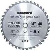 Concord Blades WCB1400T040HP 14-Inch 40 Teeth TCT General Purpose Hard & Soft Wood Saw Blade