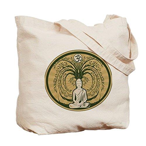 CafePress–Buda y el árbol de Bodhi–Gamuza de bolsa de lona bolsa, bolsa de la compra