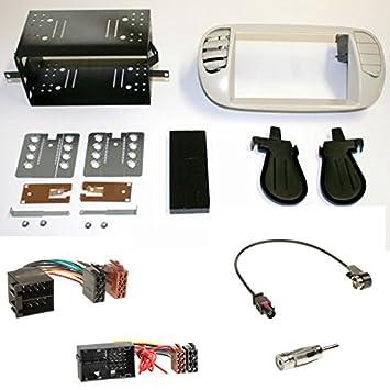 Doppel DIN Radioblende für Fiat Idea Bj 2003-2011 *grau*