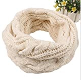 #9: Loritta Womens Winter Warm Ribbed Thick Knit Infinity Scarf Circle Loop Cowl Scarf
