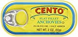 Cento Flat Anchovies in Olive Oil, 2-Ounce Tins (Pack of 25)