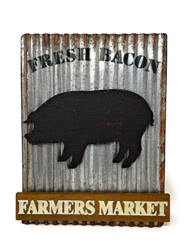 Farmhouse Country Style Kitchen Decor Metal Wood Sign Plaque 11