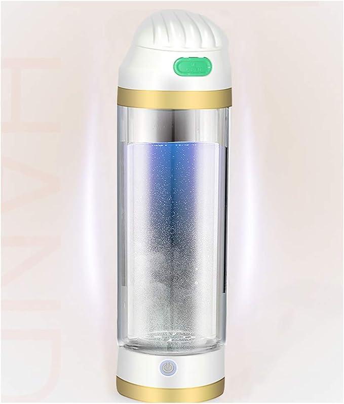 AHELT-J Botella de Agua Hidrogenada Recargable de Agua Hidrogenada con Purificador y Generador de Hidrógeno para Oficina, Hogar, Casa y Deporte - 350ml,Oro: Amazon.es: Deportes y aire libre