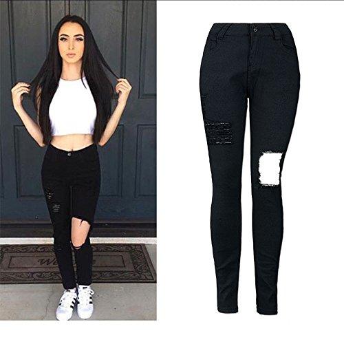 Taille Jean Pantalons Jeans Jean Pantalon Slim Femme Pantalon Pantalon Femme Taille Grande Noir Noir Haute Haute Crayon Jeans Taille Skinny Stretch Beautyjourney TEwFdxqF