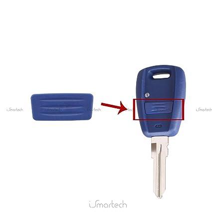 Chiavit - Membrana de goma de recambio para mando a distancia / llavero de 1 botón, compatible con Fiat Punto, Stilo, Panda, Doblò, 500, 600,Bravo, ...