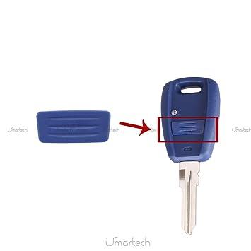 Goma 1 botón azul repuesto mando botones carcasa llave FIAT PUNTO Stilo Panda Doblò 500 600 Bravo Brava Marea Idea Ducato Lybra Croma chiavit rodillos ...