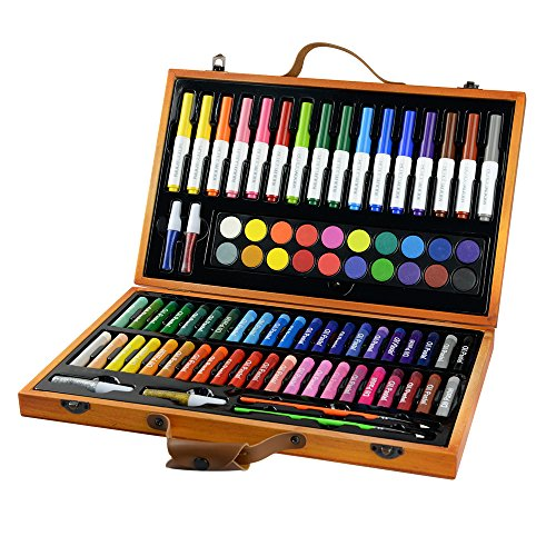 CONDA and Kiddy Color Deluxe 85 Piece Art Set for Children, 10 -