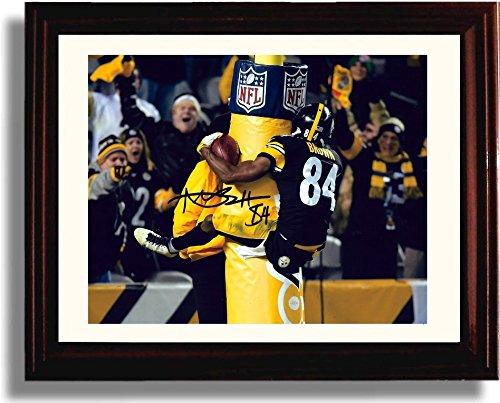 "Framed Antonio Brown ""Goal Post Hug"" Autograph Replica Print"