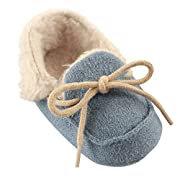 Luvable Friends Baby Cozy Moccasin Slipper, Beige, 0-6 Months M US Infant