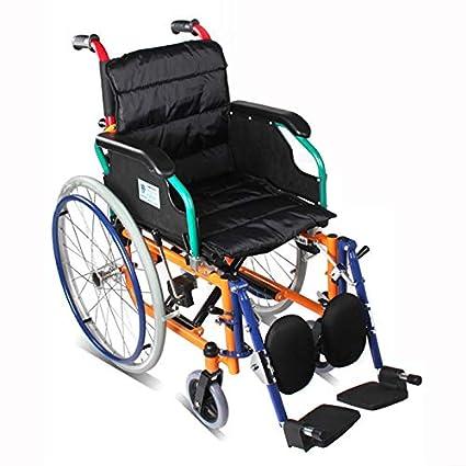 QETU Silla de Ruedas para niños - reposapiés Desmontable - para el Paraplejia, Fractura,